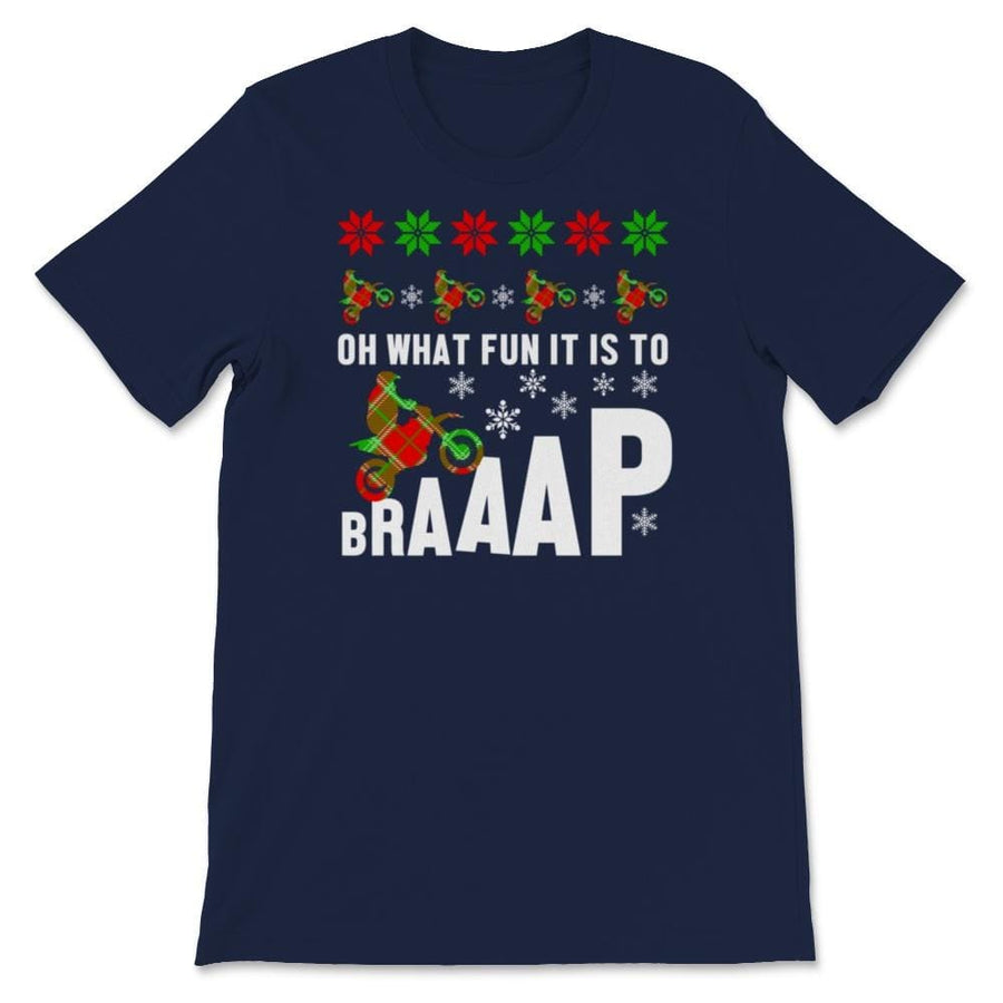 Oh What Fun It Is To Brap Motocross Ugly Christmas Unisex Premium