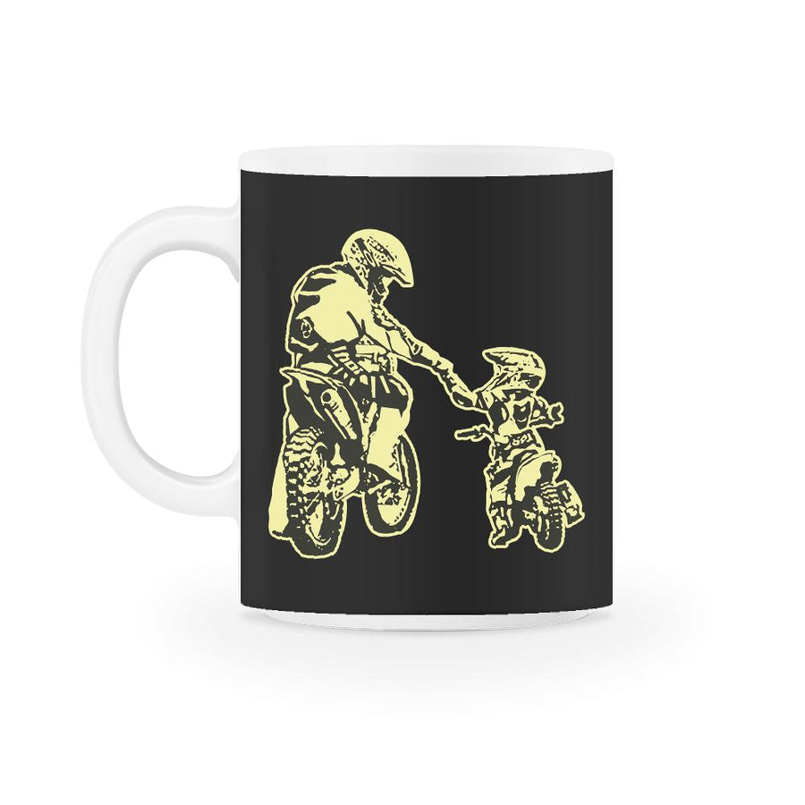 Father And Son Father And Child Motocross Mug