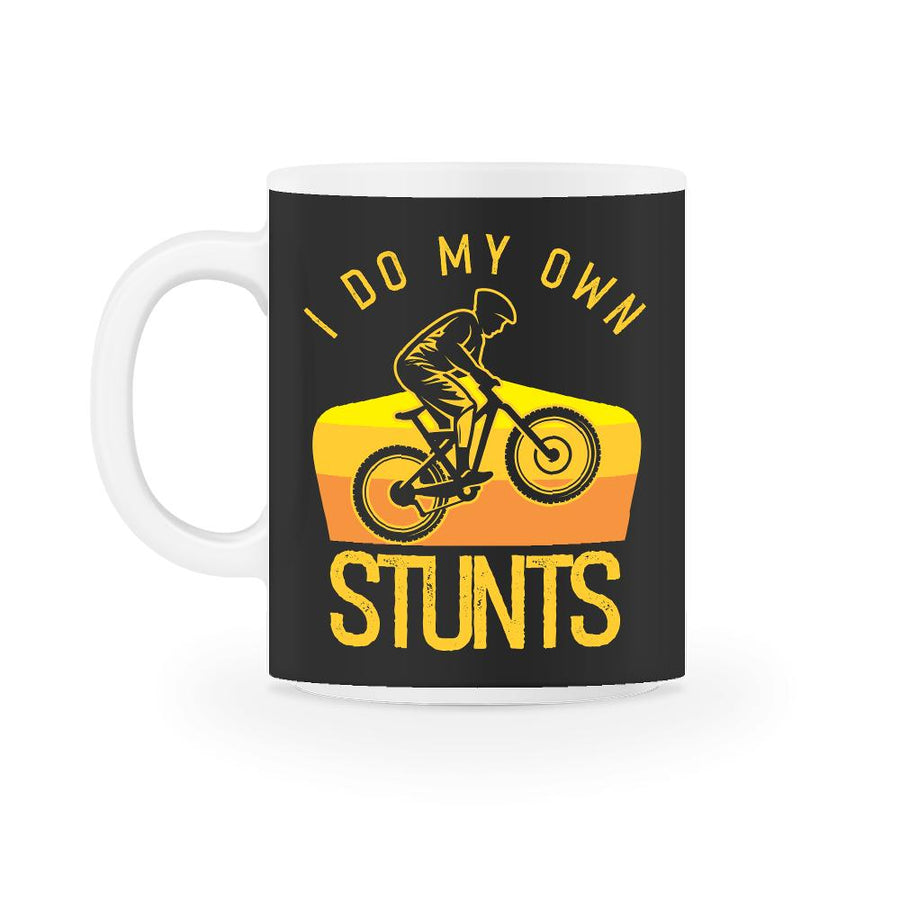 I Do My Own Stunts BMX Retro Mug