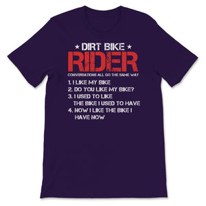 Dirt Bike Rider Motocross Unisex Premium T-Shirt