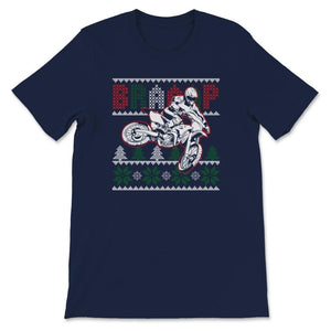 Ugly Christmas Motocross Braap Unisex Premium T-Shirt