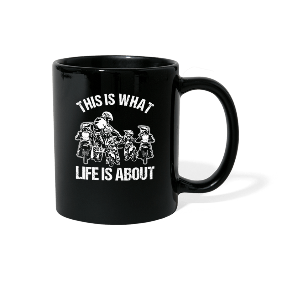 This Is What Life Is About Father And Sons Motocross Mug - black