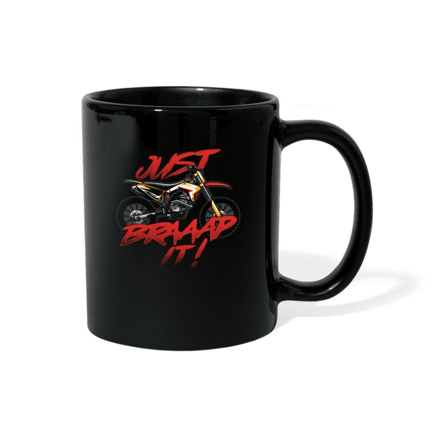 Just Braaap It Motocross Mug - black