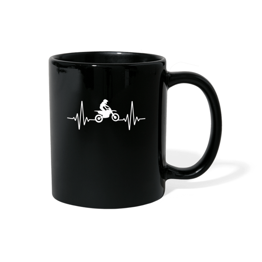 Motocross Heartbeat Mug - black