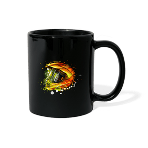 Motocross Helmet Paint Splash Mug - black