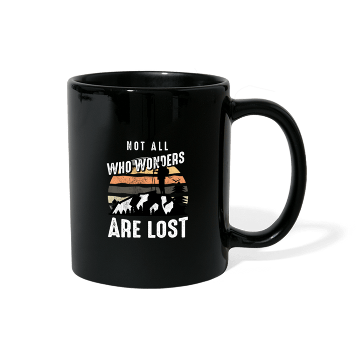 Not All Who Wonders Are Lost Hiking Mug - black