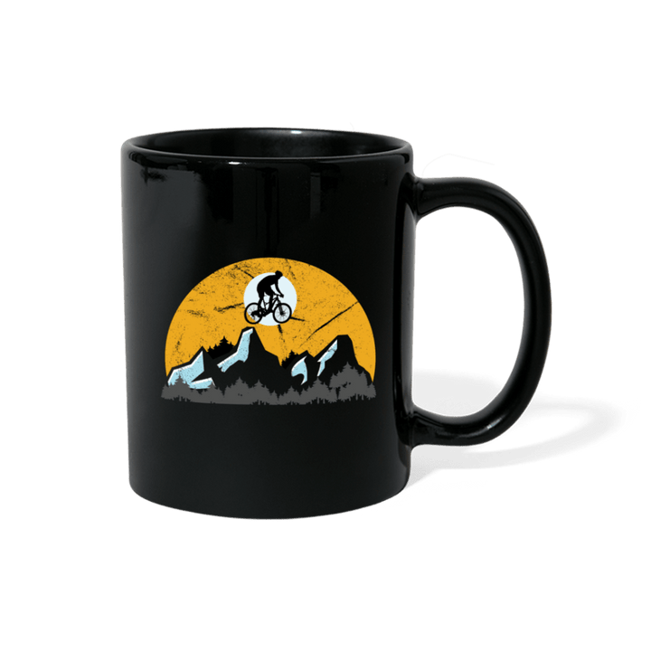 BMX Mountain Retro Mug - black