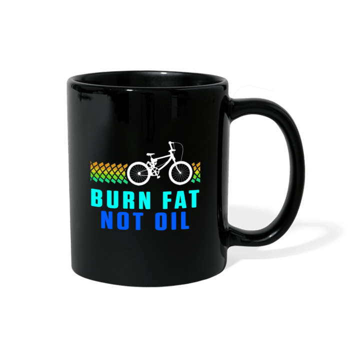 Burn Fat Not Oil BMX Mug - black