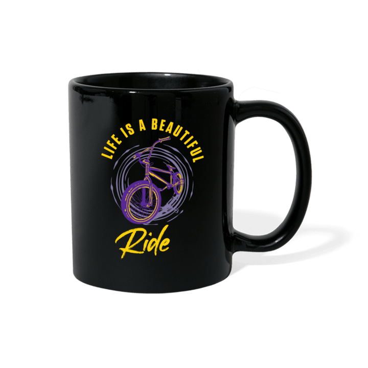Life Is A Beautiful Ride BMX Mug - black