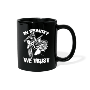 In Gravity We Trust Motocross Mug - black