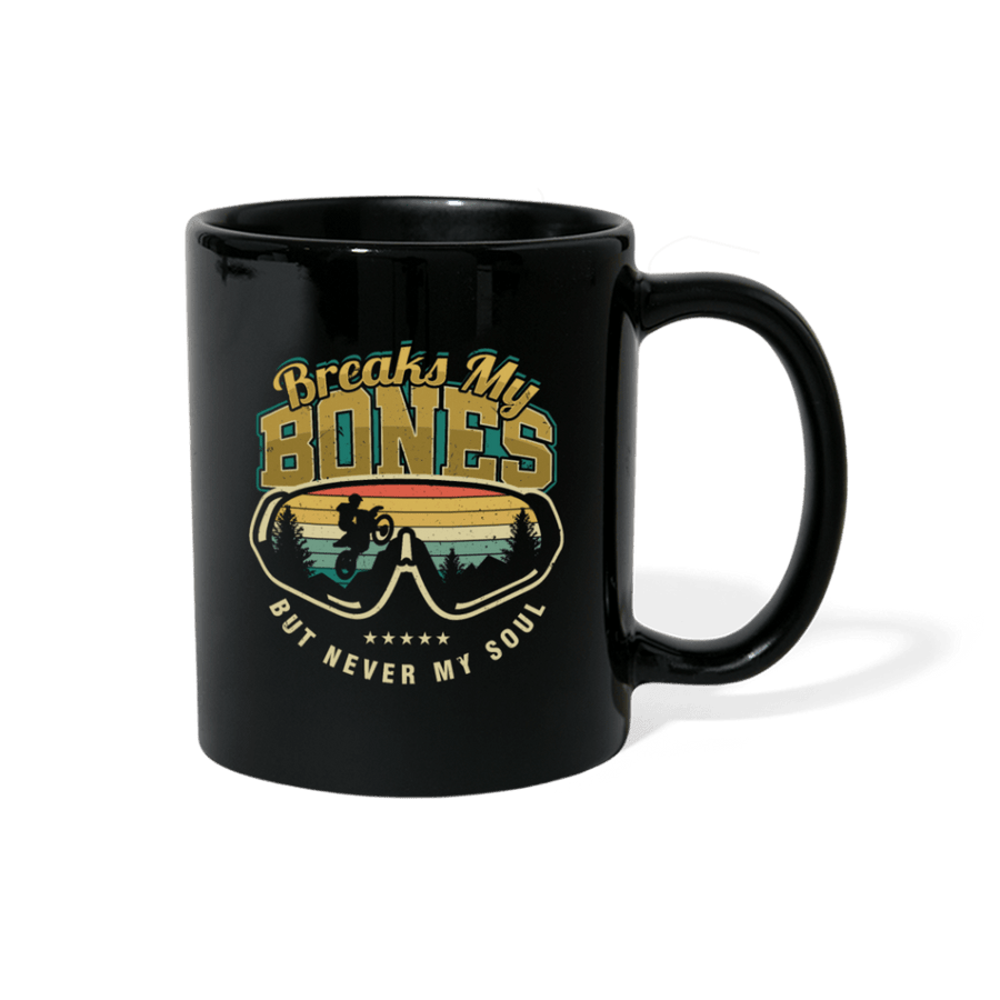 Breaks My Bones Motocross Mug - black