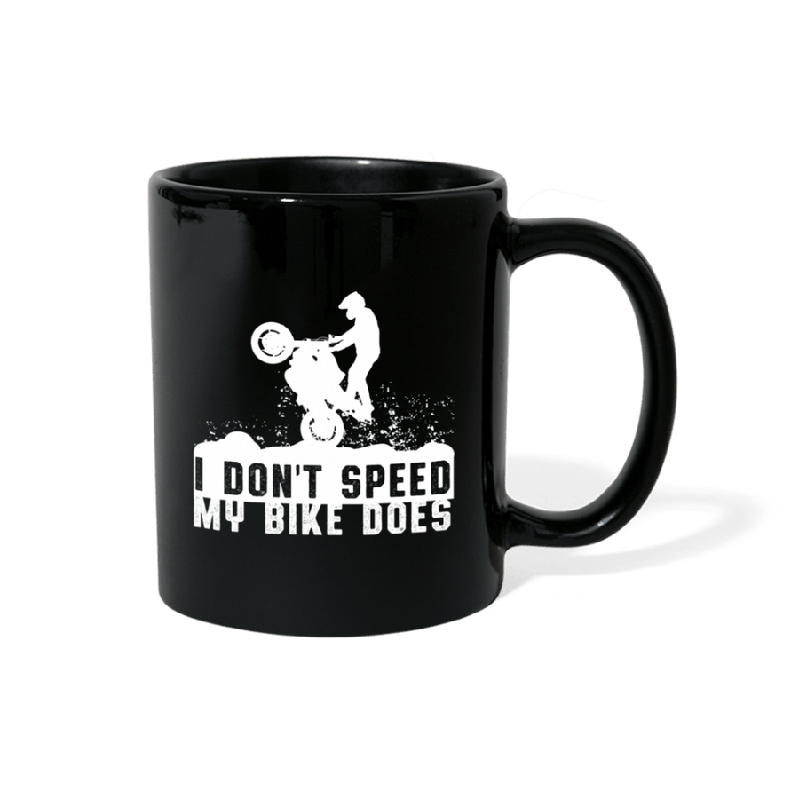 I Don't Speed My Bike Does Motocross Mug - black