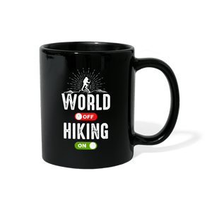 World Off Hiking On Mug - black