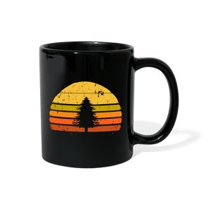 Tree Retro Vintage Mug - black