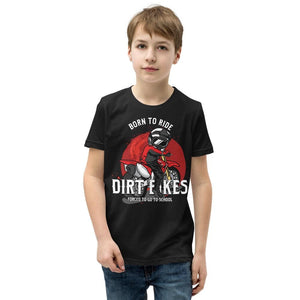 Born To Ride Motocross Dirt Bike Youth Kids Unisex Youth T-Shirt