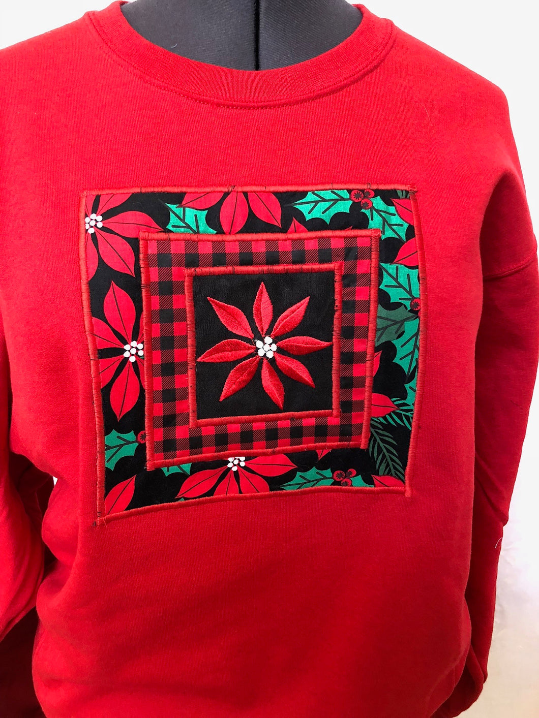 Red  Poinsettia Sweatshirt