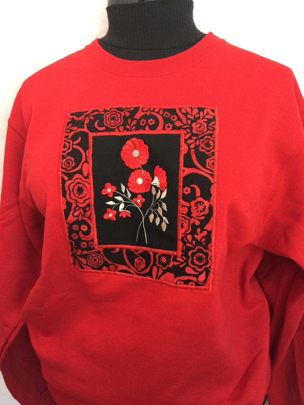 Red Bouquet Sweatshirt
