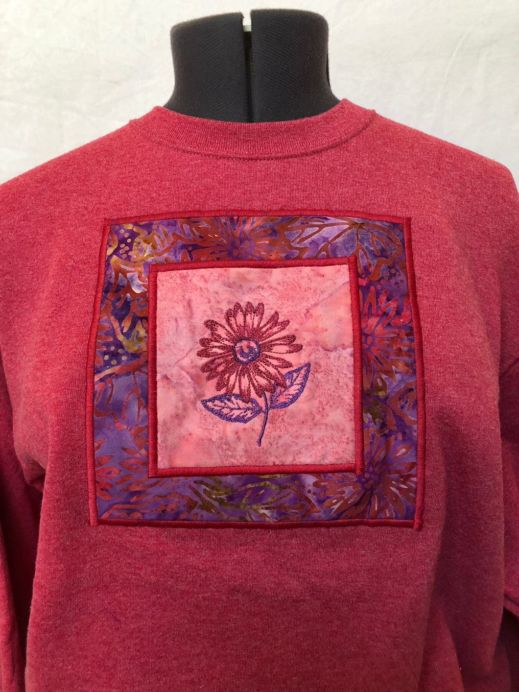 Crimson Flower Sweatshirt