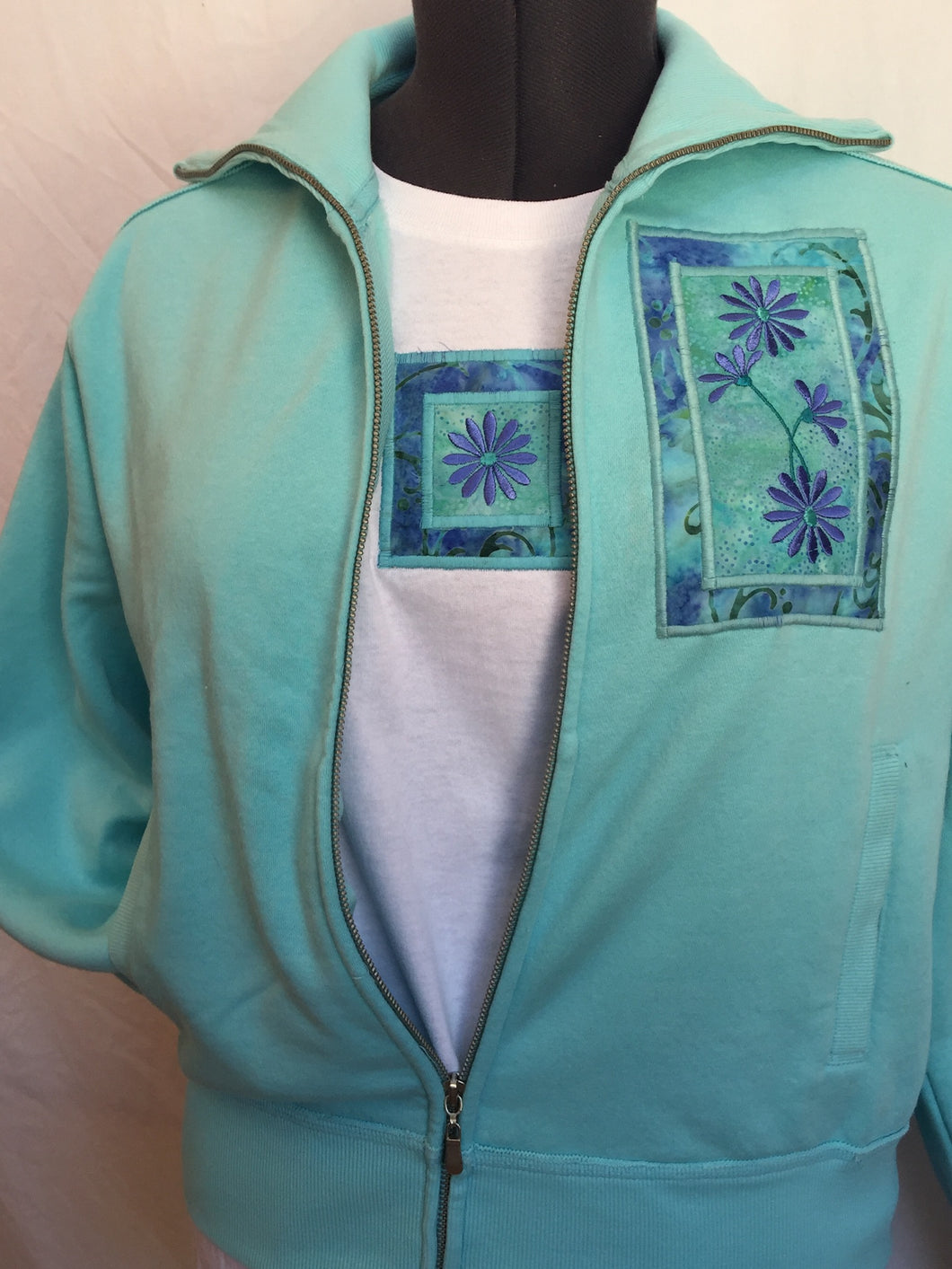 Aqua Zip Jacket Matching Short Sleeve T-Shirt