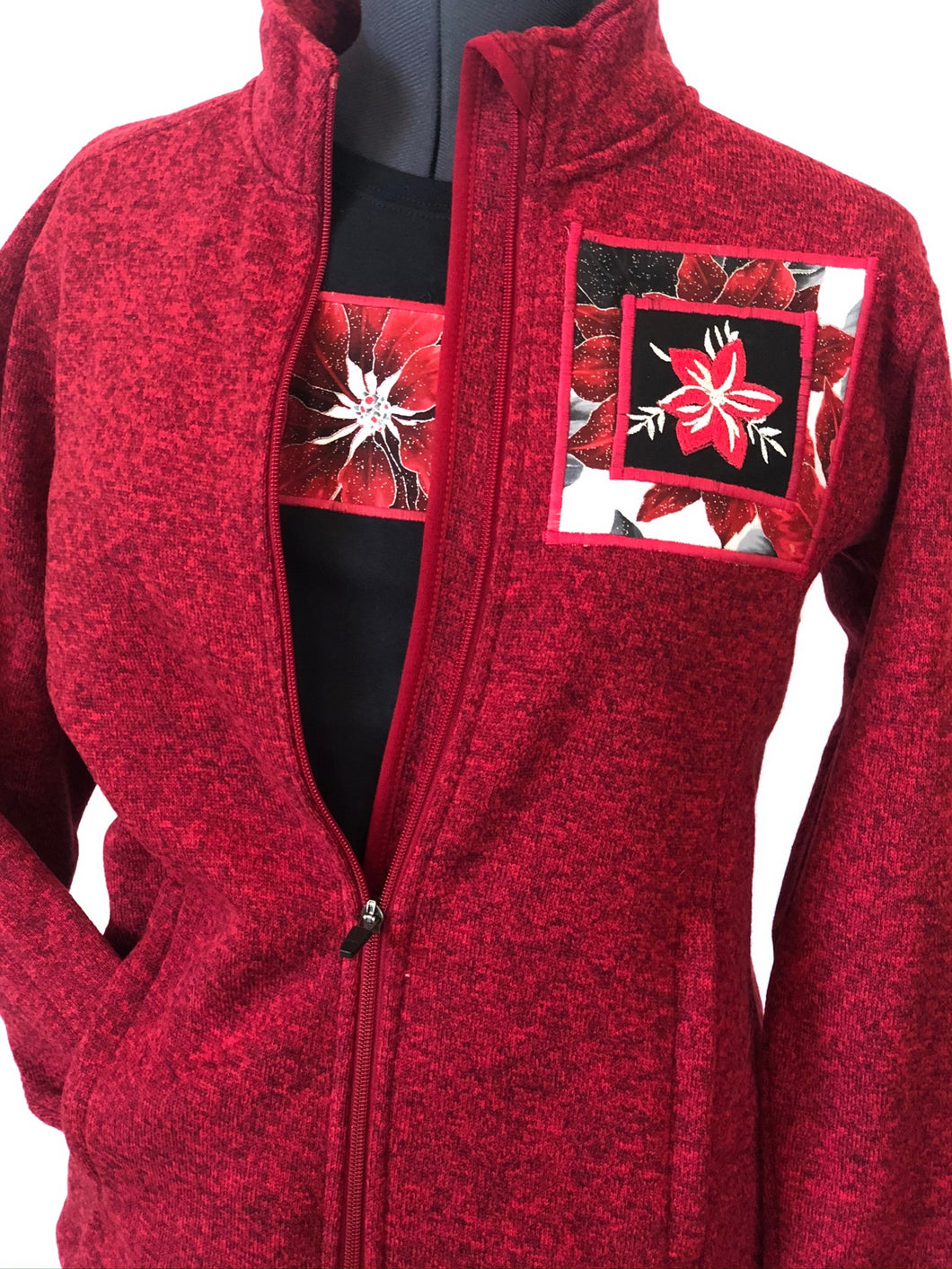 Red Heather Zip Jacket Matching Short Sleeve T-Shirt
