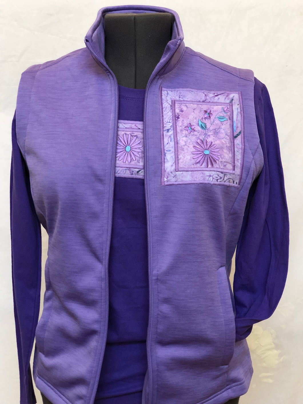Lavender Vest Matching Long Sleeve T-Shirt
