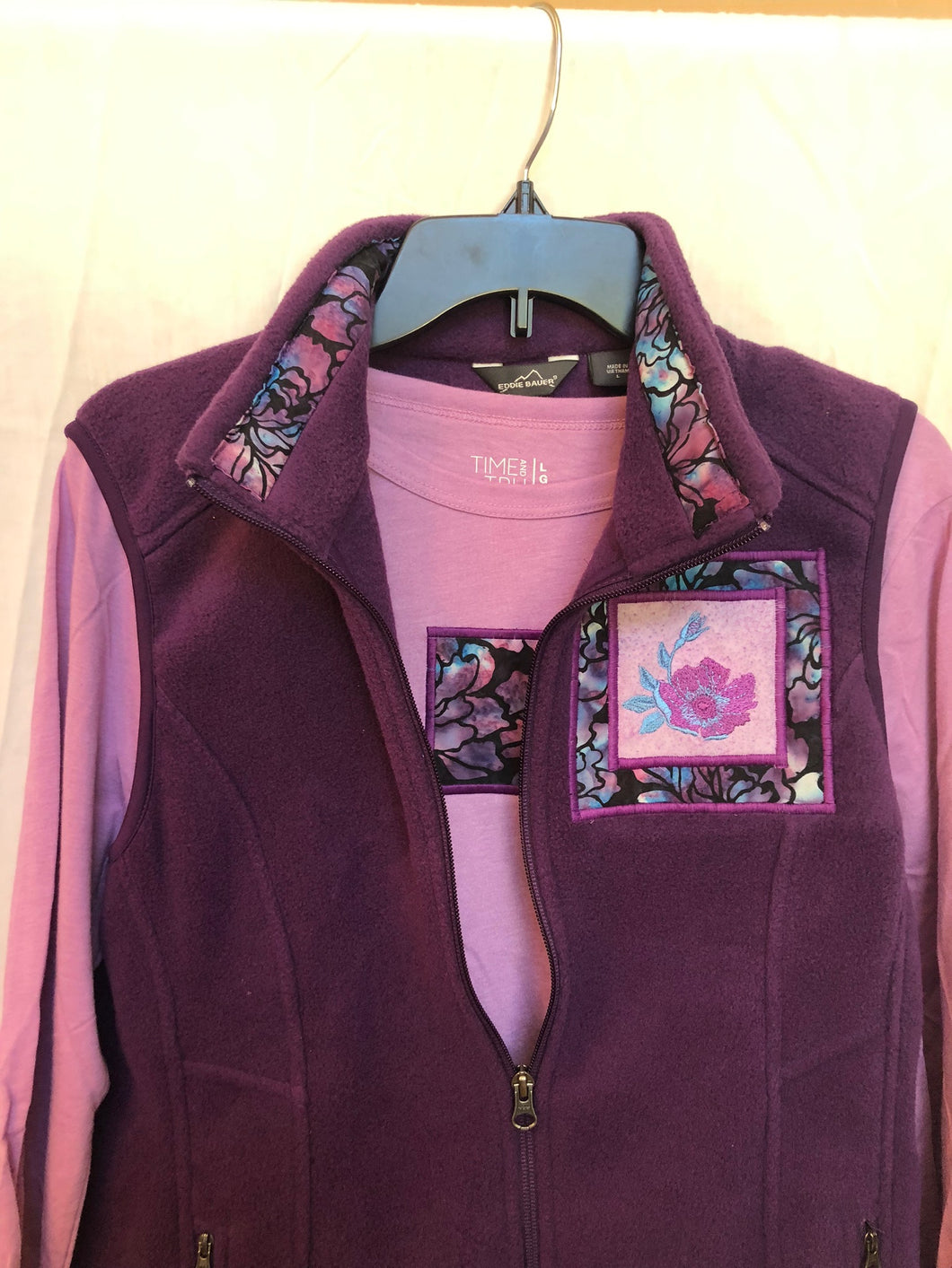 Plum Vest Matching Long Sleeve T-Shirt