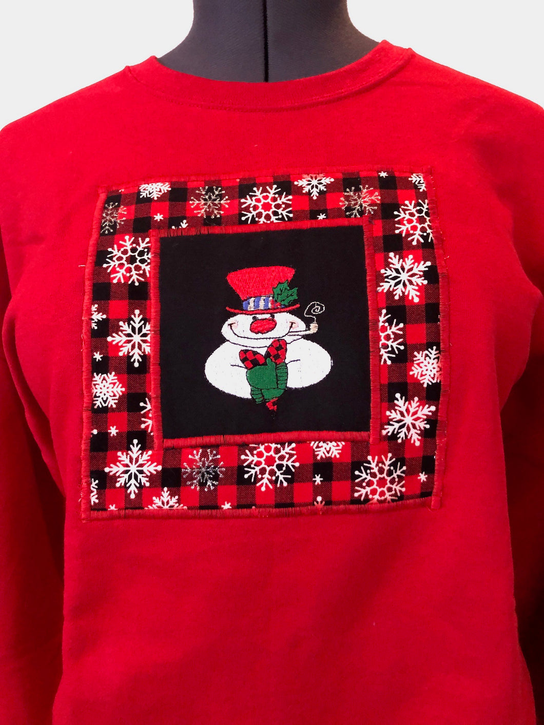 Red Snowman Sweatshirt