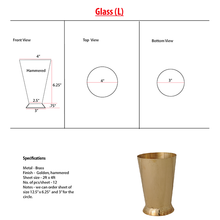 Load image into Gallery viewer, Brass Glass/ Lassi Glass