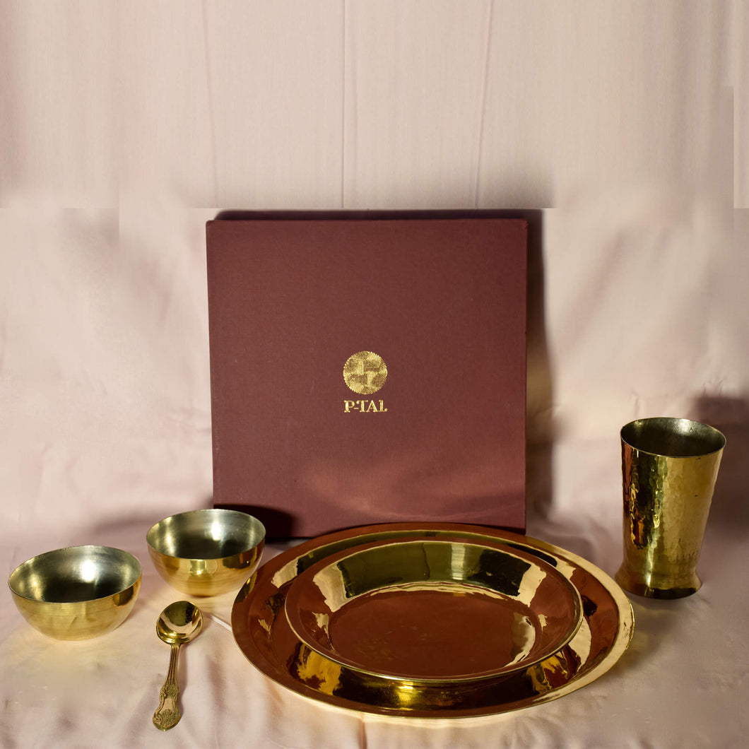 Brass plate set