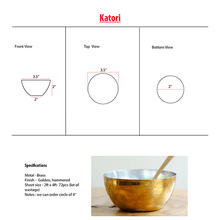 Load image into Gallery viewer, Katori - Brass Katori/Bowl for Dining