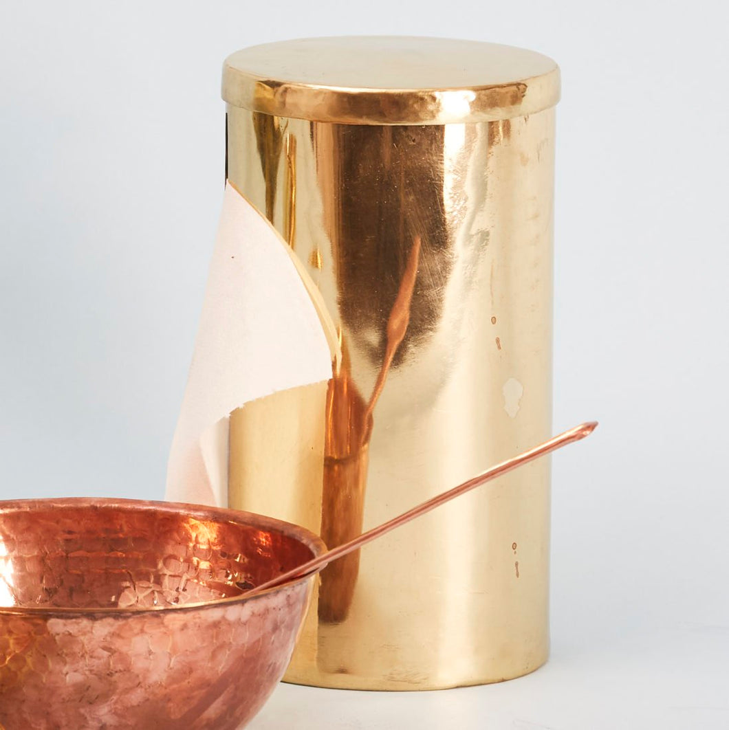 Tissue Roll Holder Stand - Brass