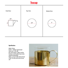 Load image into Gallery viewer, Teacup - Borosil Fitted Brass Teacups