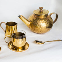 Load image into Gallery viewer, Round Brass Teapot