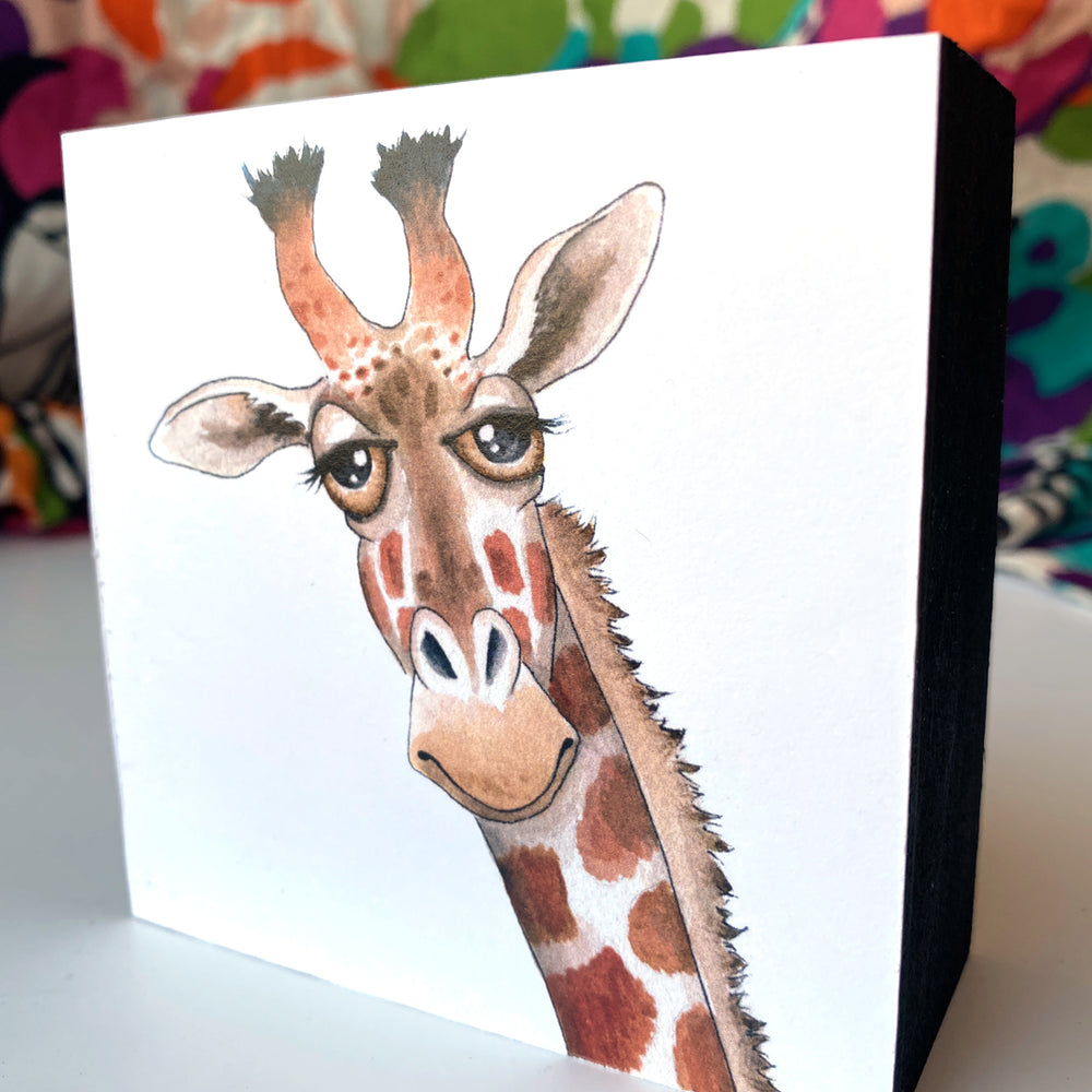 Giraffe 4x4 Mini Art Block