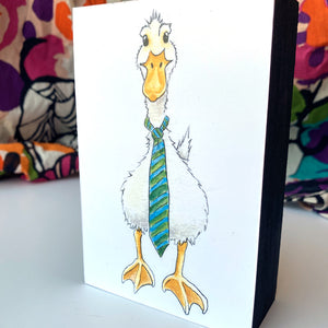 Load image into Gallery viewer, Duck With Tie 4x6 Mini Art Block