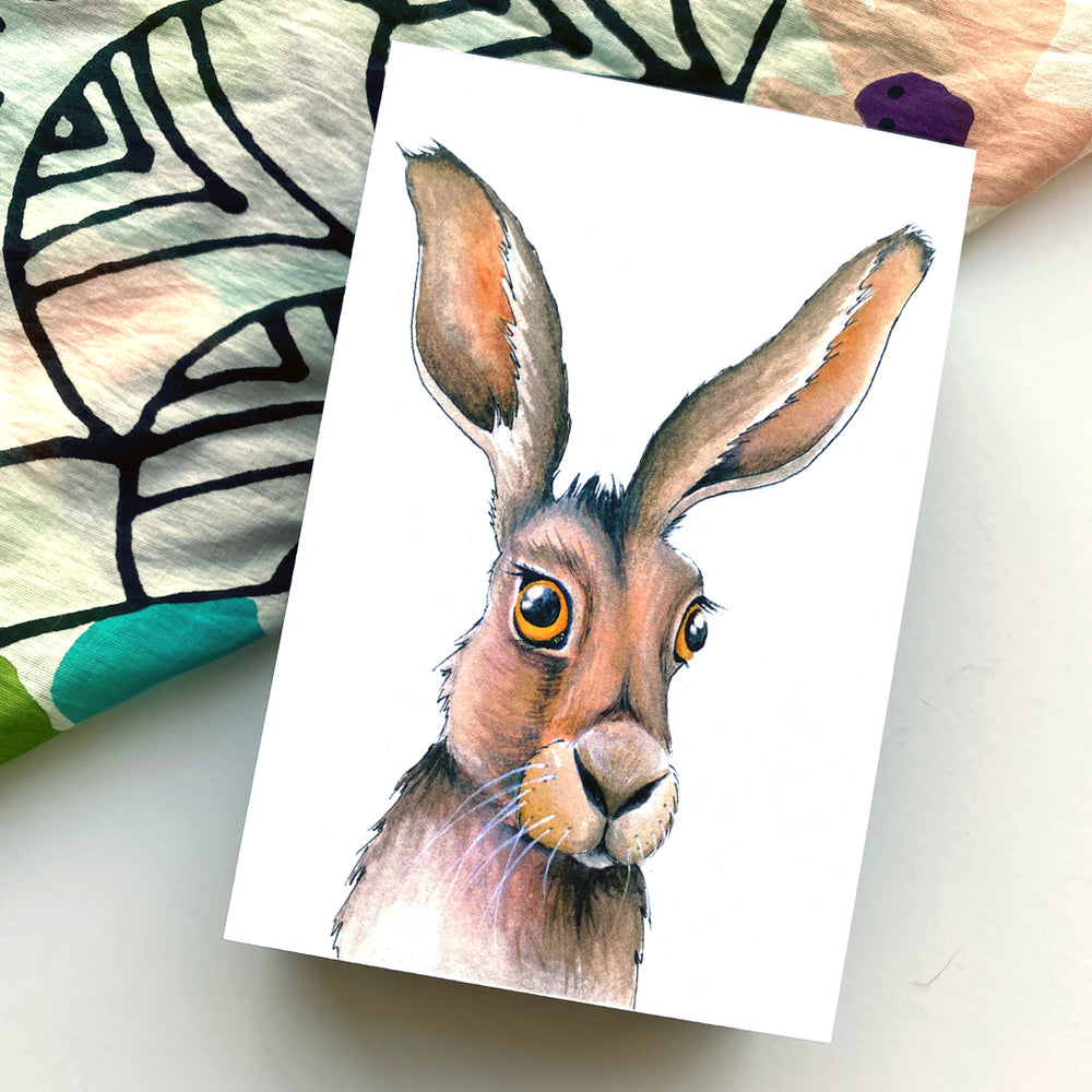 Jack Rabbit 4x6 Mini Art Block