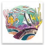 Tropical Fish 4x4 Mini Art Block