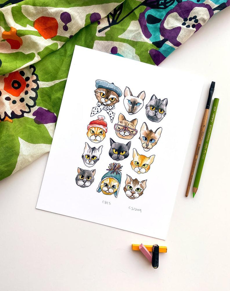 Load image into Gallery viewer, Cats 8x10 Print