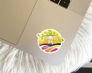 Happy Plant Vinyl Sticker