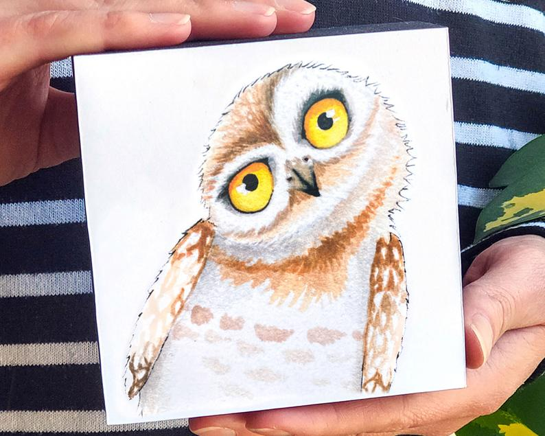 Owl 4x4 Mini Art Block