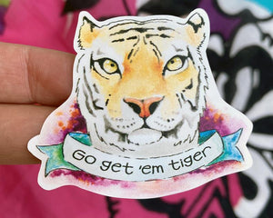 Tiger Vinyl Sticker
