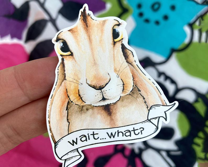 Rabbit Vinyl Sticker