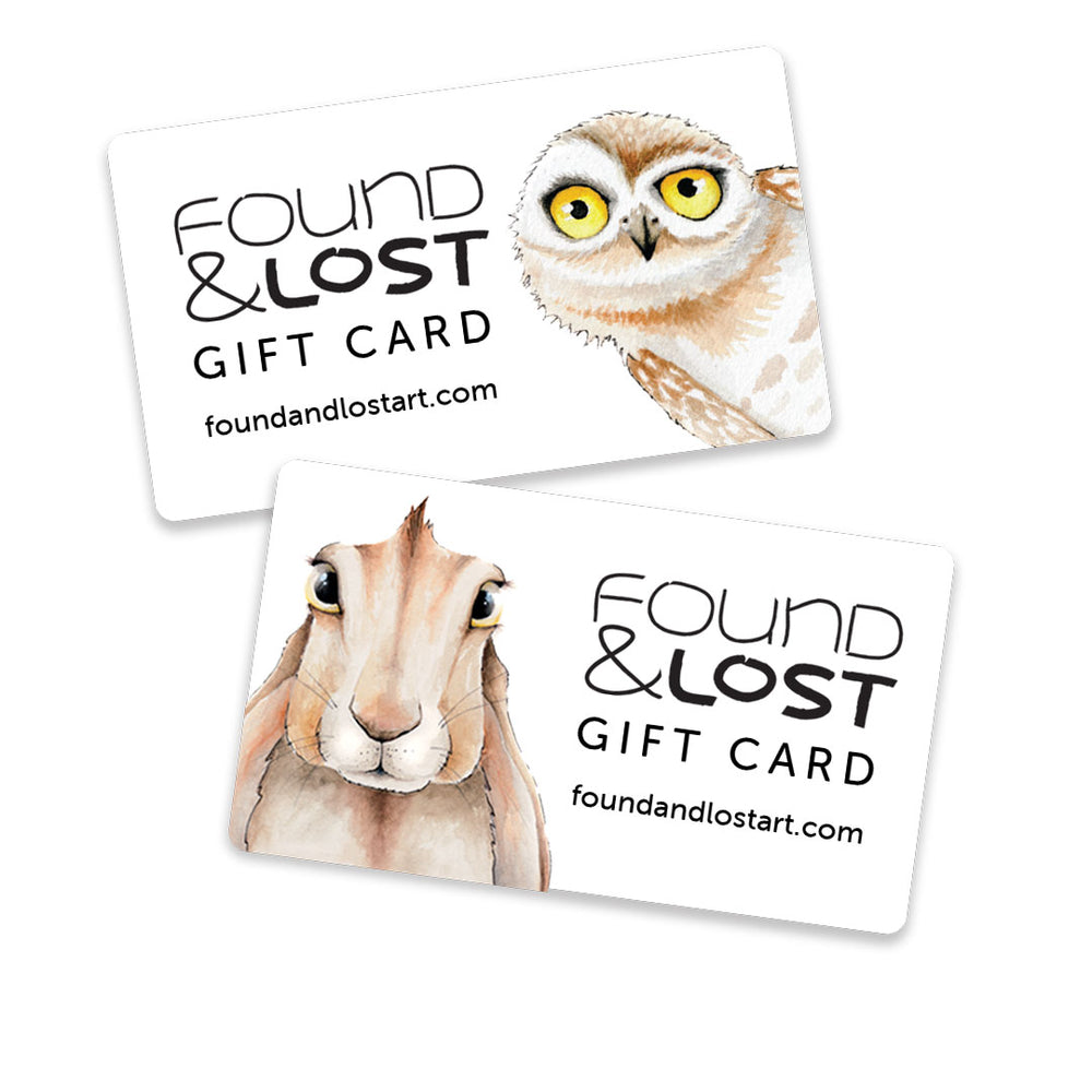Found And Lost Art Gift Card