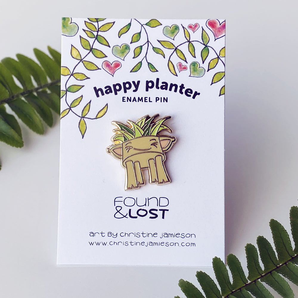 Happy Planter Enamel Pin