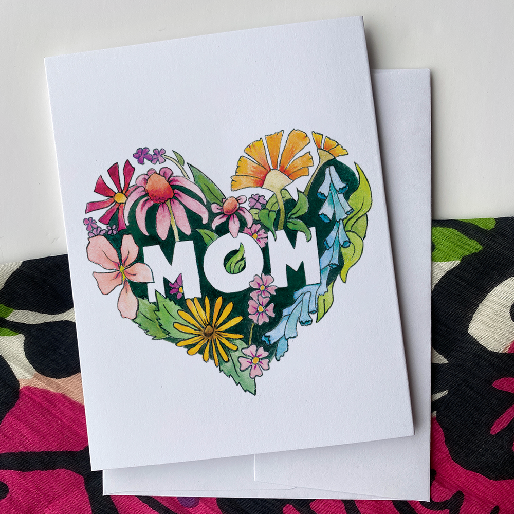 Mom Heart - Greeting Card