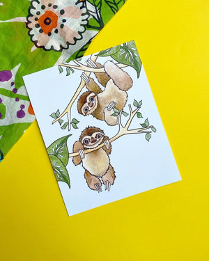 Load image into Gallery viewer, Sloths 8x10 Print