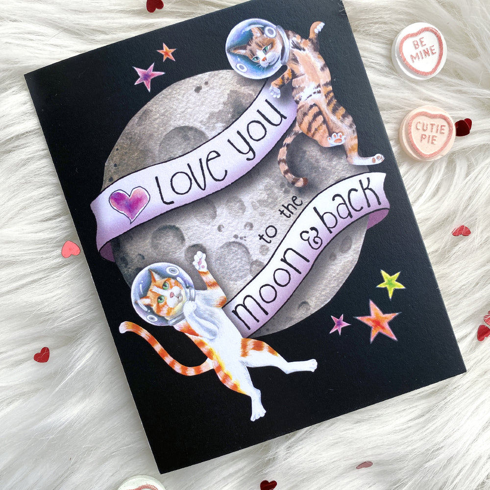 Love You to the Moon & Back - Valentine's Day Card