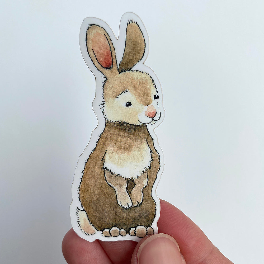 Load image into Gallery viewer, Standing Bunny Sticker - Vinyl Sticker