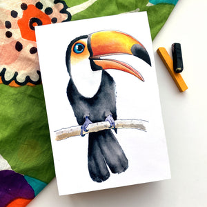 Toucan 4x6 Mini Art Block