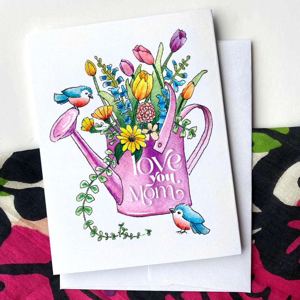 Love You Mom - Greeting Card